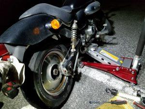 マグナ50のパンク修理