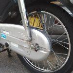 タイヤ交換後のスーパーカブ