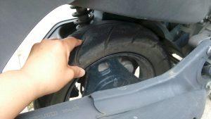 アドレスV125の出張タイヤ交換