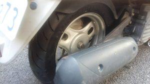 ジョルノカブの出張タイヤ交換