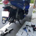 PCXの出張タイヤ交換