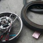 ビジネスバイクタイヤ交換