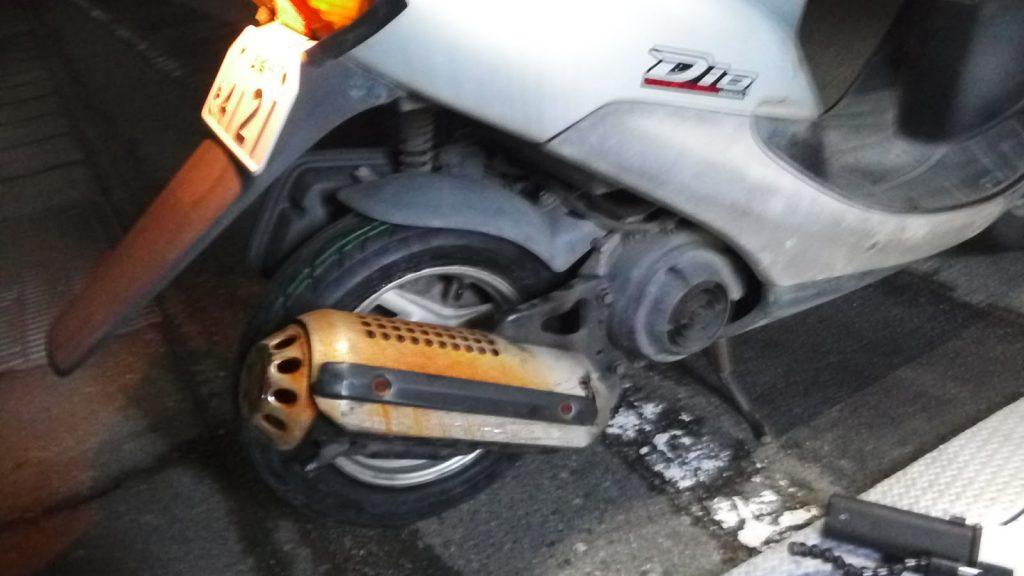 ホンダディオの出張タイヤ交換