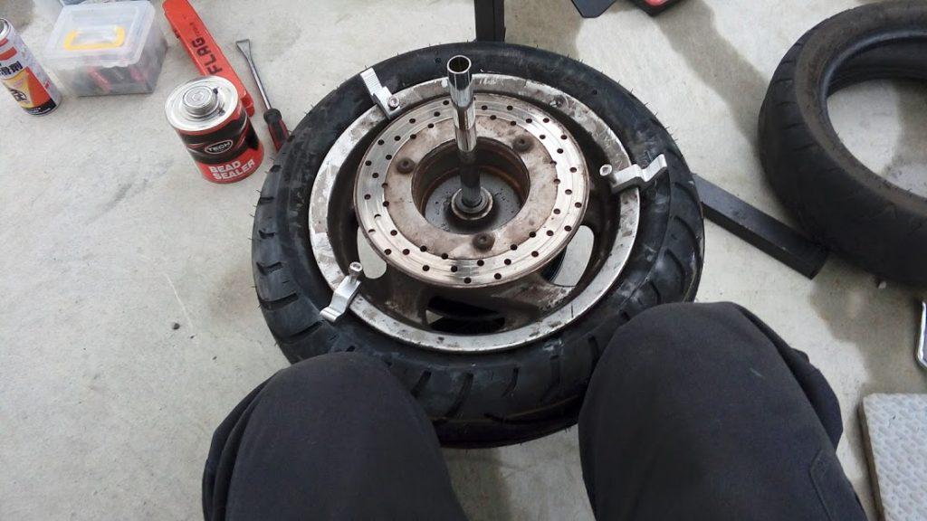 マジェスティの出張タイヤ交換