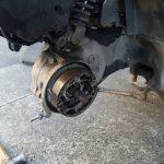 ディオフィットのブレーキ修理