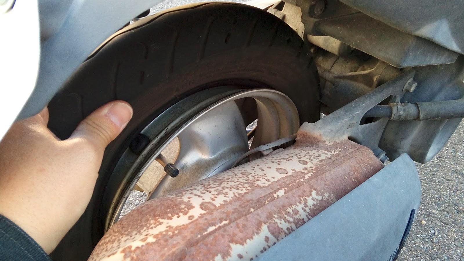 ヤマハジョグの出張タイヤ交換