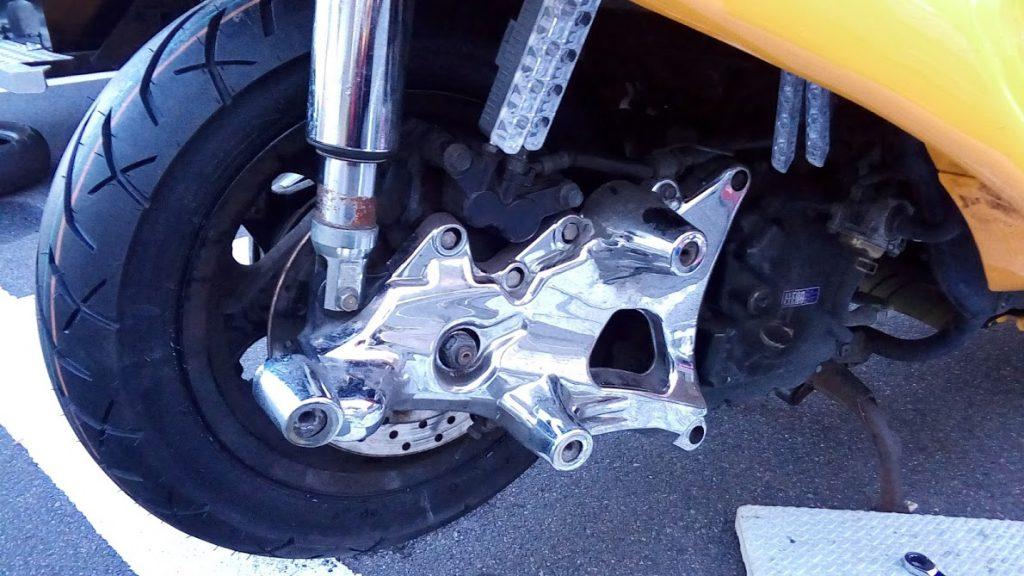 マジェスティ250の出張タイヤ交換