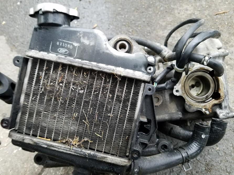 焼き付いたエンジン