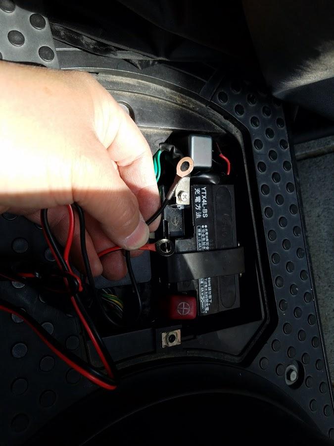原付の充電器