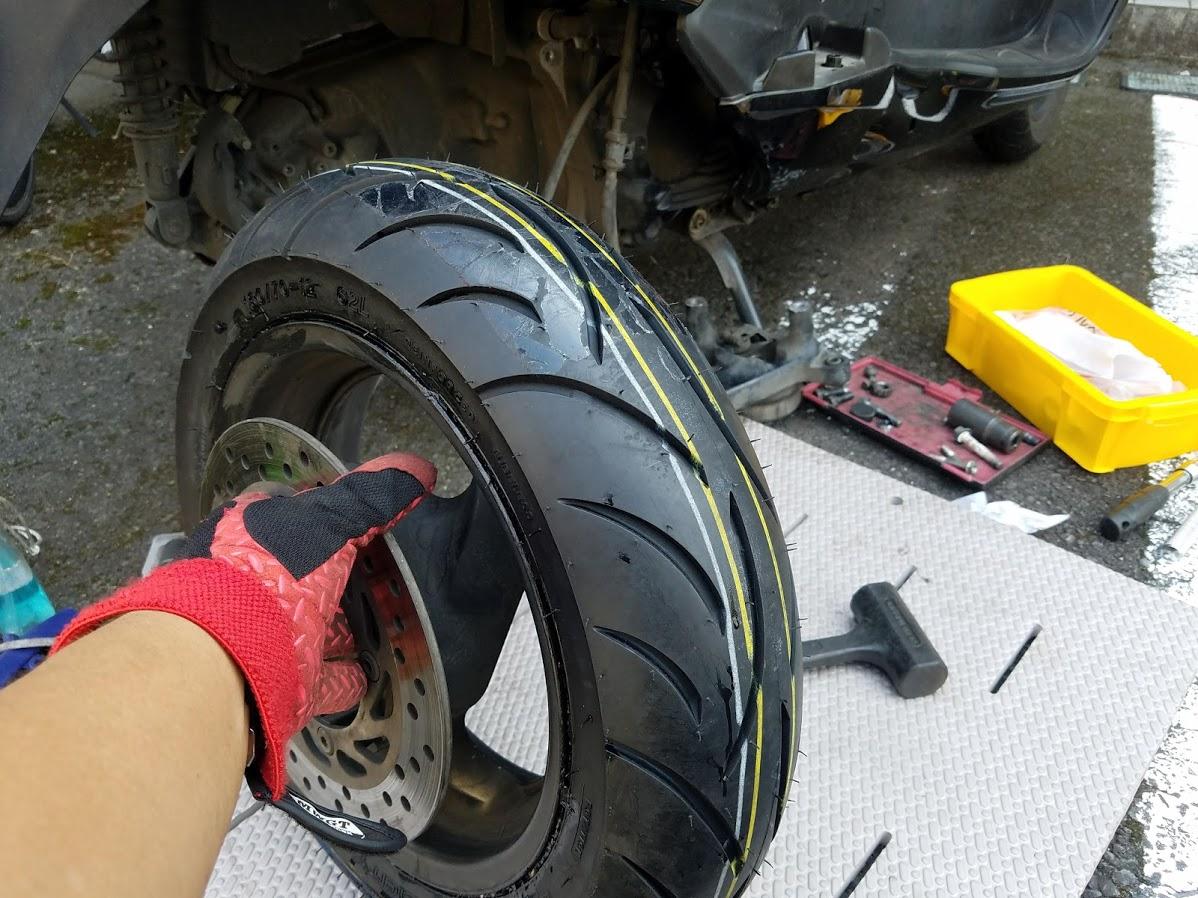 フォルツァの新品タイヤ