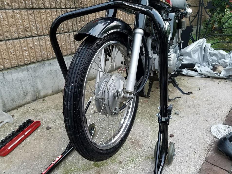 タイヤ交換後のYB50