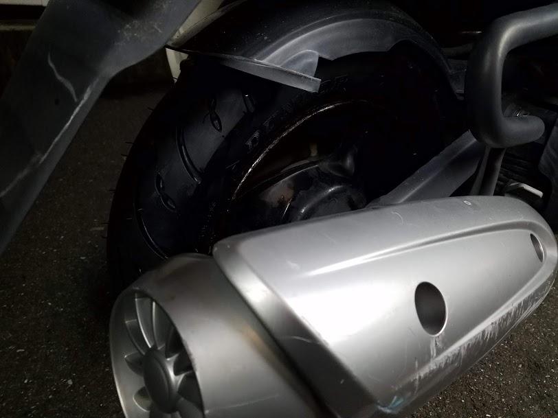 スクーター出張タイヤ交換