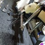 スーパーカブのパンク修理