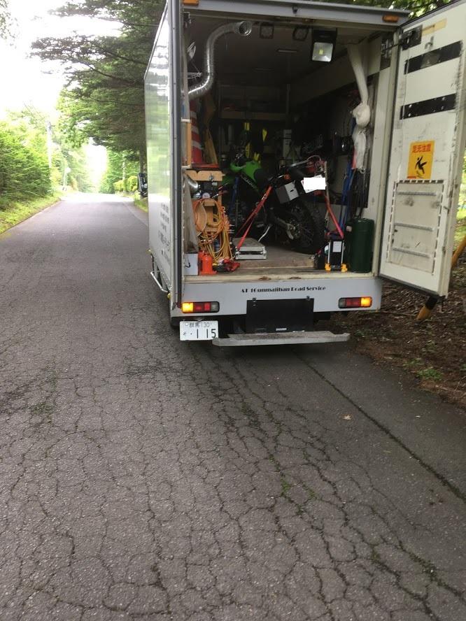 バイクの回収修理