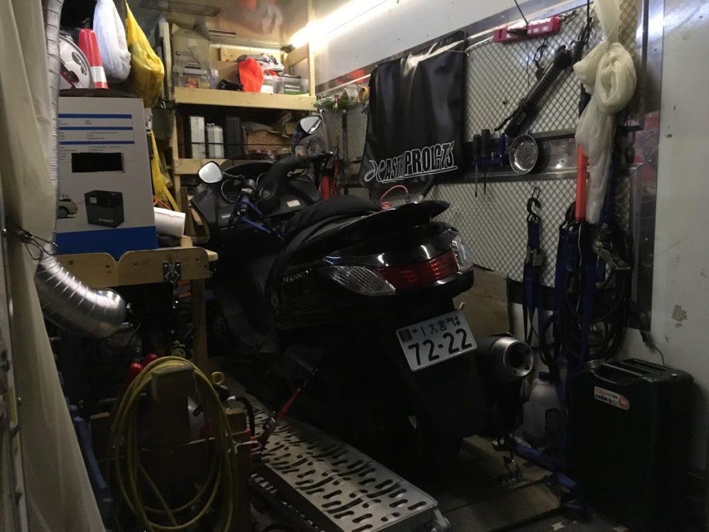 バイク救援の納車準備