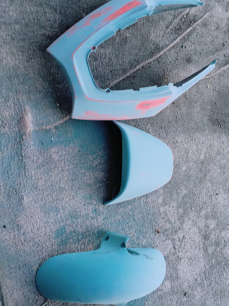 バイクパーツの塗装