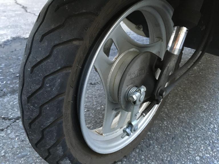 原付きタイヤの分離