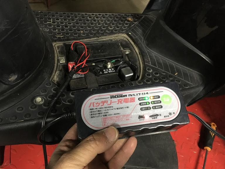 バイクバッテリー充電器