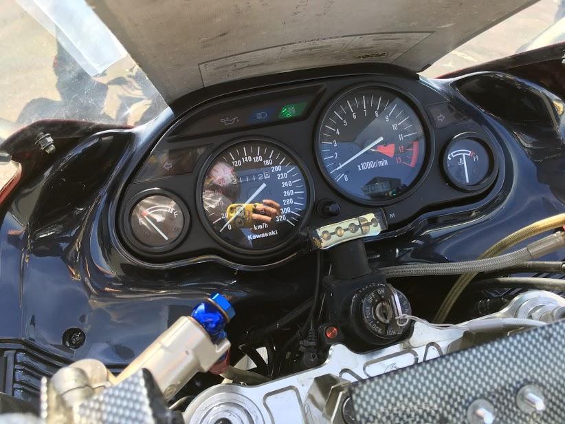 バイクの320キロメーター