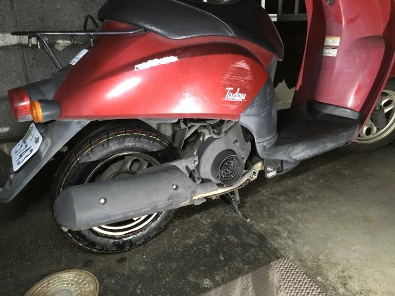 トゥデイの出張タイヤ交換
