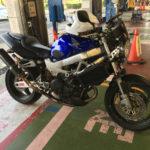 VTR1000Fのバイク車検