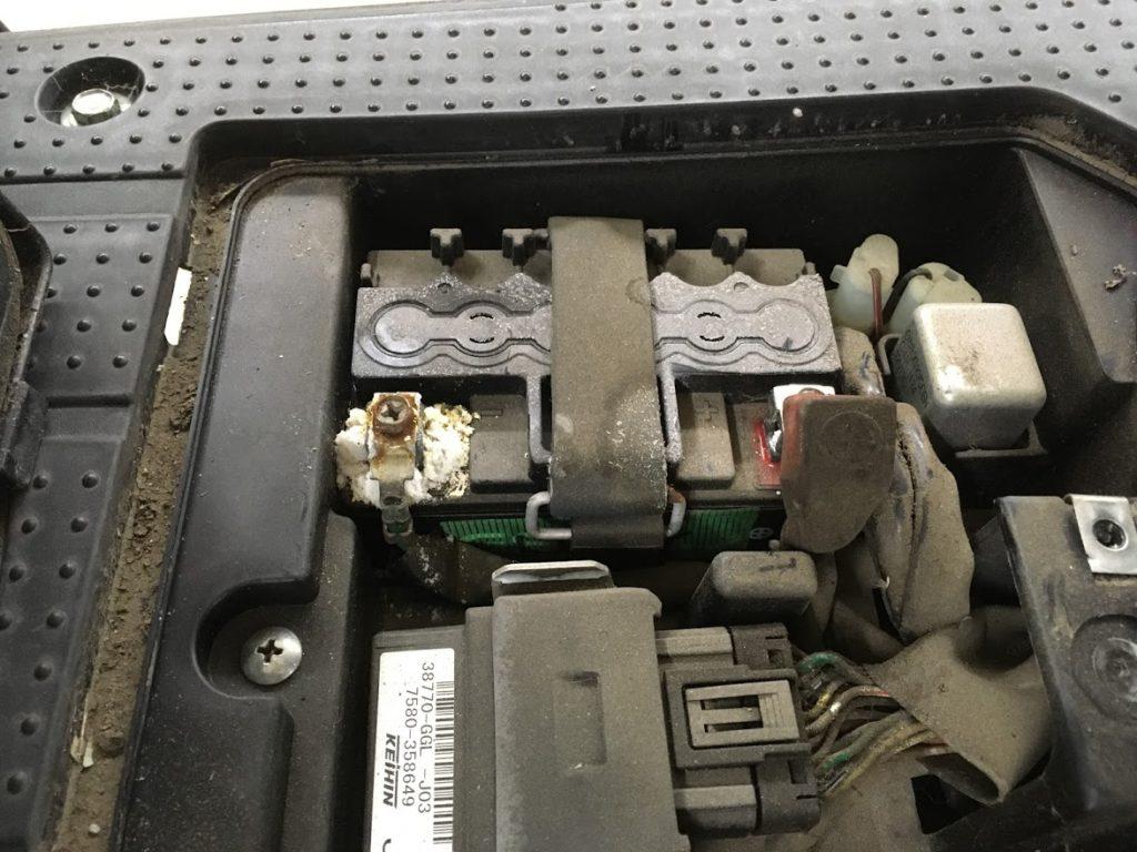 ダメになってしまったバッテリー