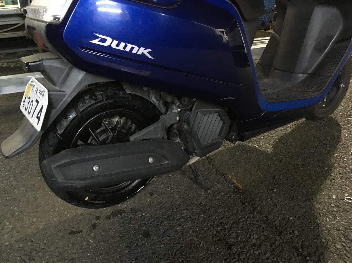原付の出張タイヤ交換