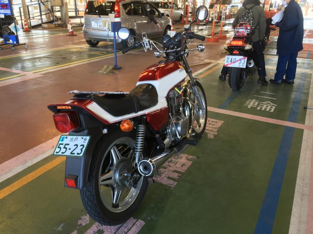 CB400TホークⅡの車検