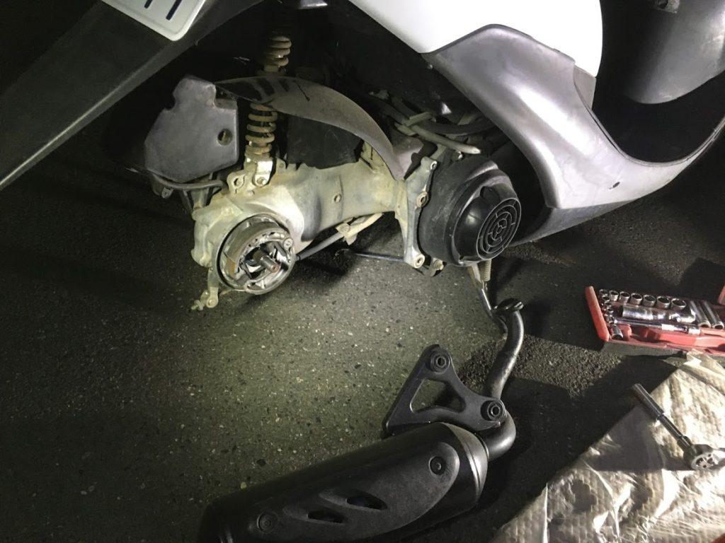 原付タイヤ交換